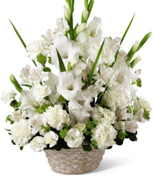 White Lilies of Peace Basket