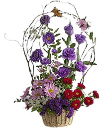 Country Fresh Funeral Basket