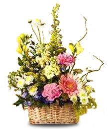 Yellow and Pastel Basket