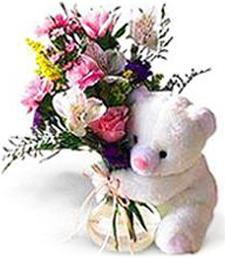 White Bear & Bouquet