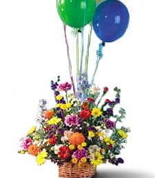 Large Basket with Balloons