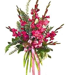 Pink Gladiolus Standing Spray