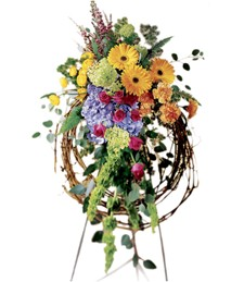 Rural Beauty Wreath Funeral Spray