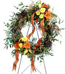 Flourishing Garden Funeral Wreath