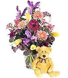 Spring Fling Get Well Bouquet & Bear