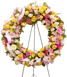 Beautiful Garden Standing Funeral Wreath