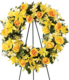 Rise and Shine Sympathy Wreath