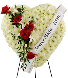 Cherished Life Sympathy Wreath