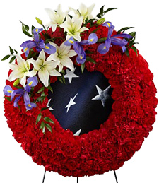 Trust and Honor Sympathy Wreath