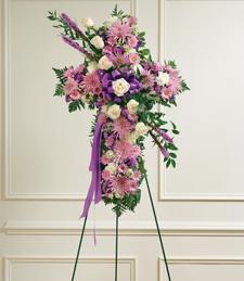 Precious Lavender Moments Cross Wreath